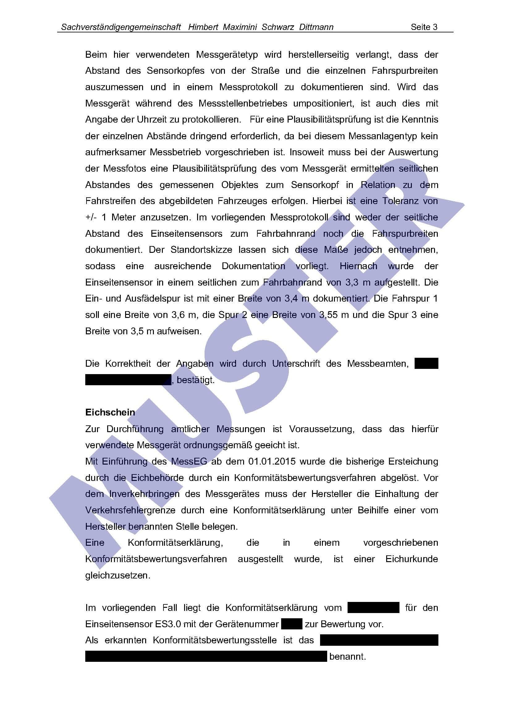 hms blitzergutachtenplus seite 3 - Einspruch Gegen Bugeldbescheid Muster